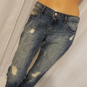NWOT BANANA REPUBLIC DISTRESSED JEANS SIZE 27